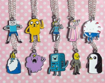 Adventure Time character charm necklaces