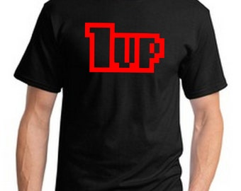 1up Retro Videgame 8 Bit T-Shirt