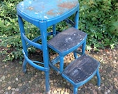 Vintage Cosco stool with fold-out steps from the 60s