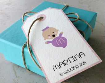 """Baptism Favor Tag """"Baby"""""""