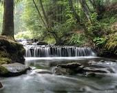 Waterfall Nature Photography, Carpathians Landscape, Wall Art, Photo Print