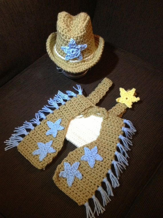 Crochet Baby Cowboy Chaps Pattern : Items similar to Crochet Cowboy Hat and Chaps Outfit ...
