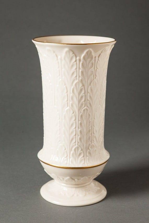 "Lenox Fine China Bud Vase Embossed Roses Gold Rim 6 1/2"" USA ..."