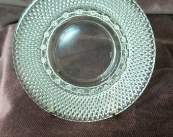 Vintage Pressed Glass Ash Tray