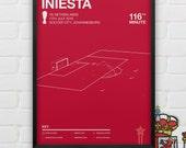 Andrés Iniesta vs Netherlands Giclee Print