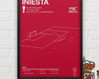 Andrés Iniesta vs Netherlands Giclee Print -- [26]