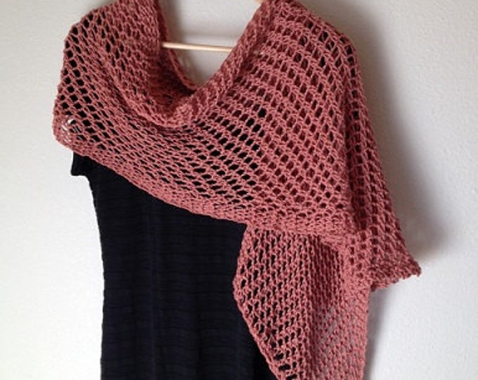 Featured listing image: Lattice Stitch Shawl - a loom knit pattern