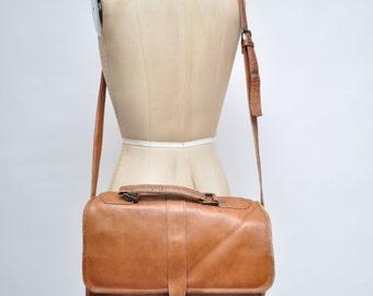 vintage leather bag satchel ipad case messenger tote