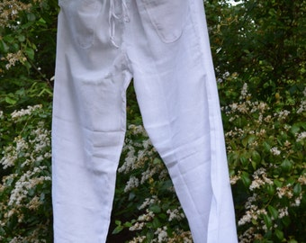 Drawstring Pant in hand loomed, gauze fabric