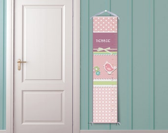 Bird and Patterns Personalized Growth Chart