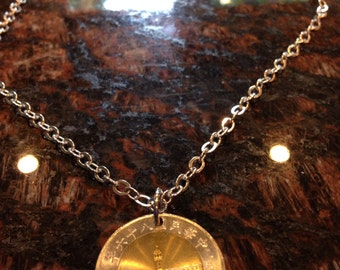 Taiwan 50 dollars coin necklace