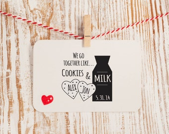 Cookies and Milk Stamp for Wedding Favors Style No. 22W
