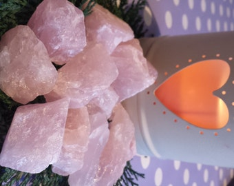 Rough Rose Quartz Pieces  - Raw, Healing, Crystal Therapy, Reiki