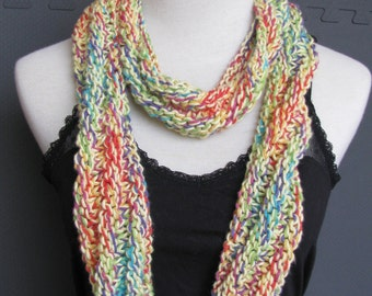 Knitted Scarf hand knit infinity Scarf, circle scarf Extra Long