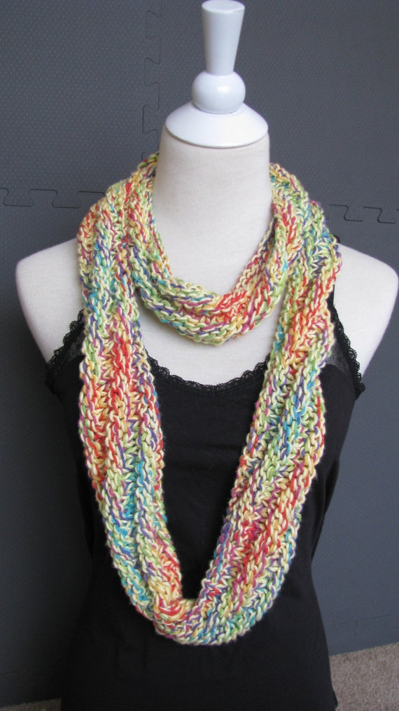 Knitted Scarf hand knit infinity Scarf circle scarf Extra