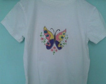 Pretty Butterfly Tee Shirt  Age 7-8yrs