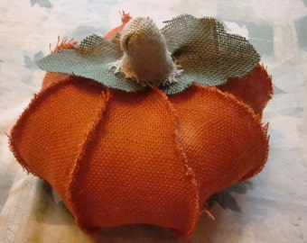 Large Stuffed Pumpkin:Handmade burlap pumpkin just in time for the autumn season! Your choide of an orange or natural!