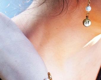 Sparkle (White) Bracelet and Earrings Set