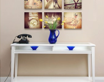 Personal Instagram Photo - Facebook Photo Printed Art Grid Printed on Wood Panel or Canvas - Grid Art Made in USA