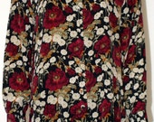 1990s Anna and Frank Floral Silk Blouse / Vintage Silk Blouse