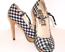 Vintage Office Rockabilly Shoes with Cork Sole!