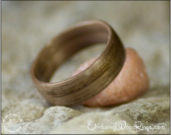 Bentwood Ring in Walnut - Wood Jewelry