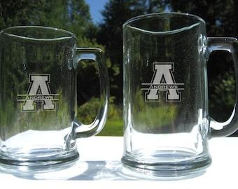 Personalized Beer Mug - Engraved Beer Mug -  Engraved Beer Glass - Personalized Beer Mug- Groomsman Mug - Engraved Mug