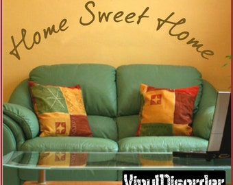 Home sweet home - Vinyl Wall Decal - Wall Quotes - Vinyl Sticker - Quotesfamily35ET