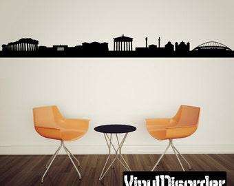 Athens  Skyline Vinyl Wall Decal or Car Sticker SS035ET
