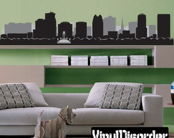 Orlando Florida Skyline Vinyl Wall Decal or Car Sticker - Vinyl Fabric - Repositionable Decal - ...