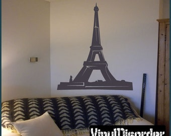 Paris Eiffel Tower Wall Decal - Vinyl Decal - Car Decal - Landmark - landmarksmc004ET