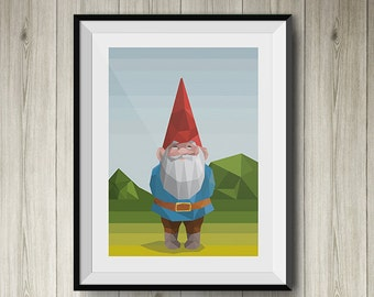 David the GNOME Art polygonal | David the Gnome polygonal art