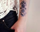 Dutch Delft Blue temporary tattoo / Dutch temporary tattoo / floral temporary tattoo / flower temporary tattoo / Bohemian temporary tattoo