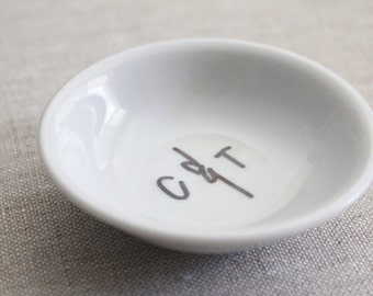 custom lovers trinket dish // 2 sizes available