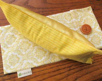 Sunny Yellow Aromatherapy Eye Mask Pillow with Infused or Unscented Flax seed