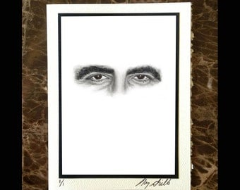 George Clooney Eyes Notecard