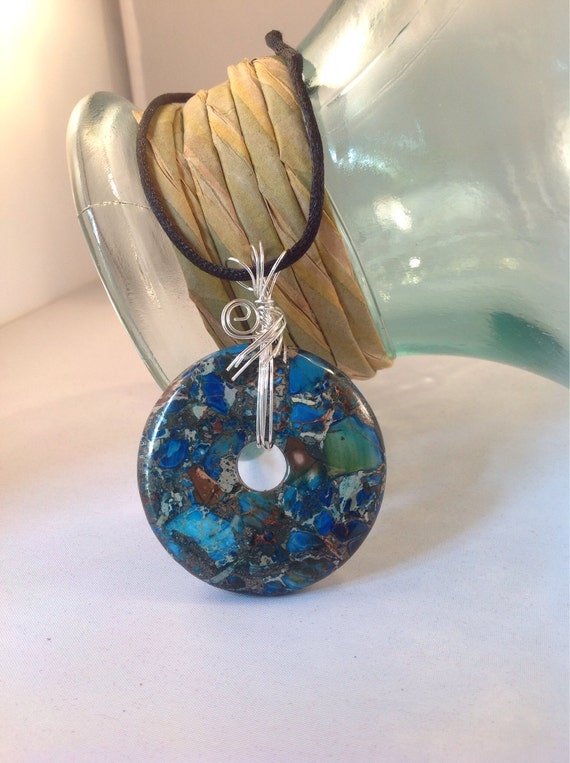 wire wrapped pendant donuts - photo #18