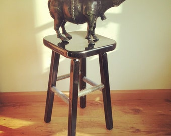 An old stool with a new fresh look!