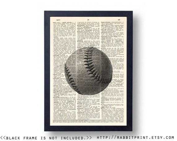 Vintage baseball wall art prints wall decor sports by for Vintage basketball wall art