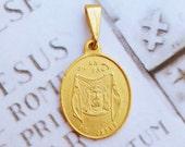 Medal - The Holy Face of Jesus Medal - 18K Gold Vermeil - 19x22mm