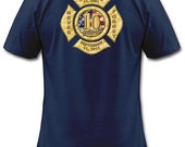 Firefighter T-Shirt - Never Forget 911 T-Shirt, Fire Department Shirt with Maltese Cross in Memory