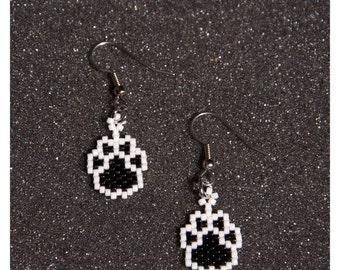 Small Paw Print Earrings