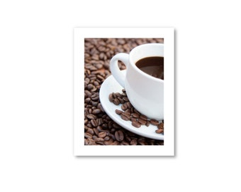 """Coffee Photography, Coffee Art, Cafe Decor, """"The Bliss of Coffee"""""""