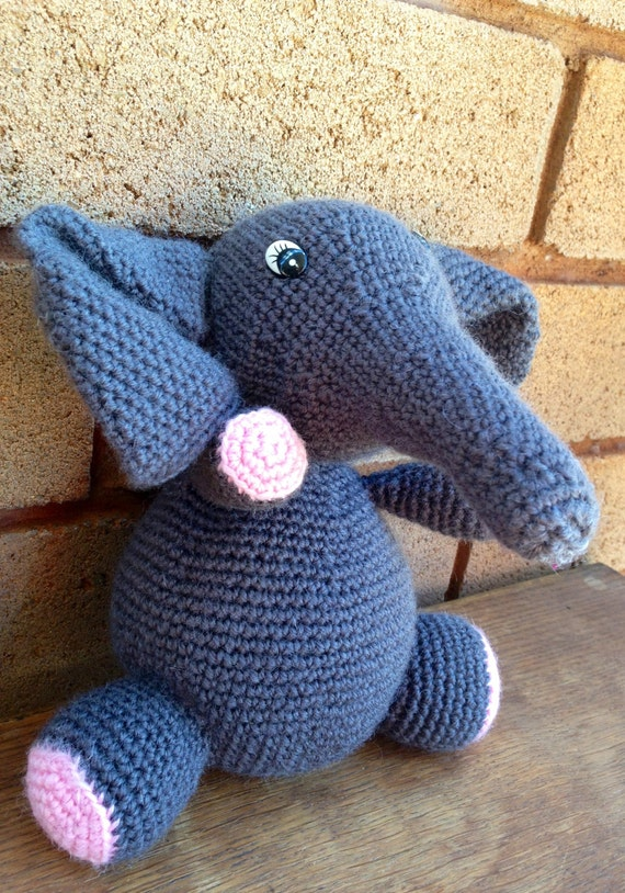 eco friendly elephant on etsy in wool