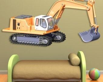 Wall decals shovel A061 - Stickers pelle mécanique A061
