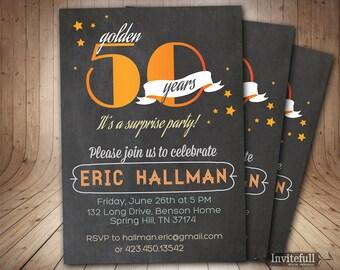 50th Birthday Invitation, Adult Birthday Invitation, DIY Printable Invitation, Men Birthday Invitation, 60th Birthday Invitation