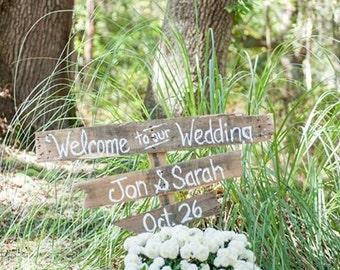 Rustic Pallet Wedding Signs
