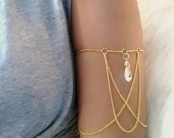 Thumbelina Arm Chain - Gold Plated