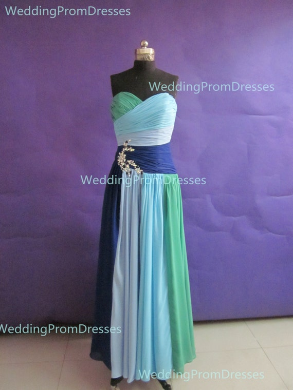 Items similar to unique colorful long prom dresses with for Unique colorful wedding dresses