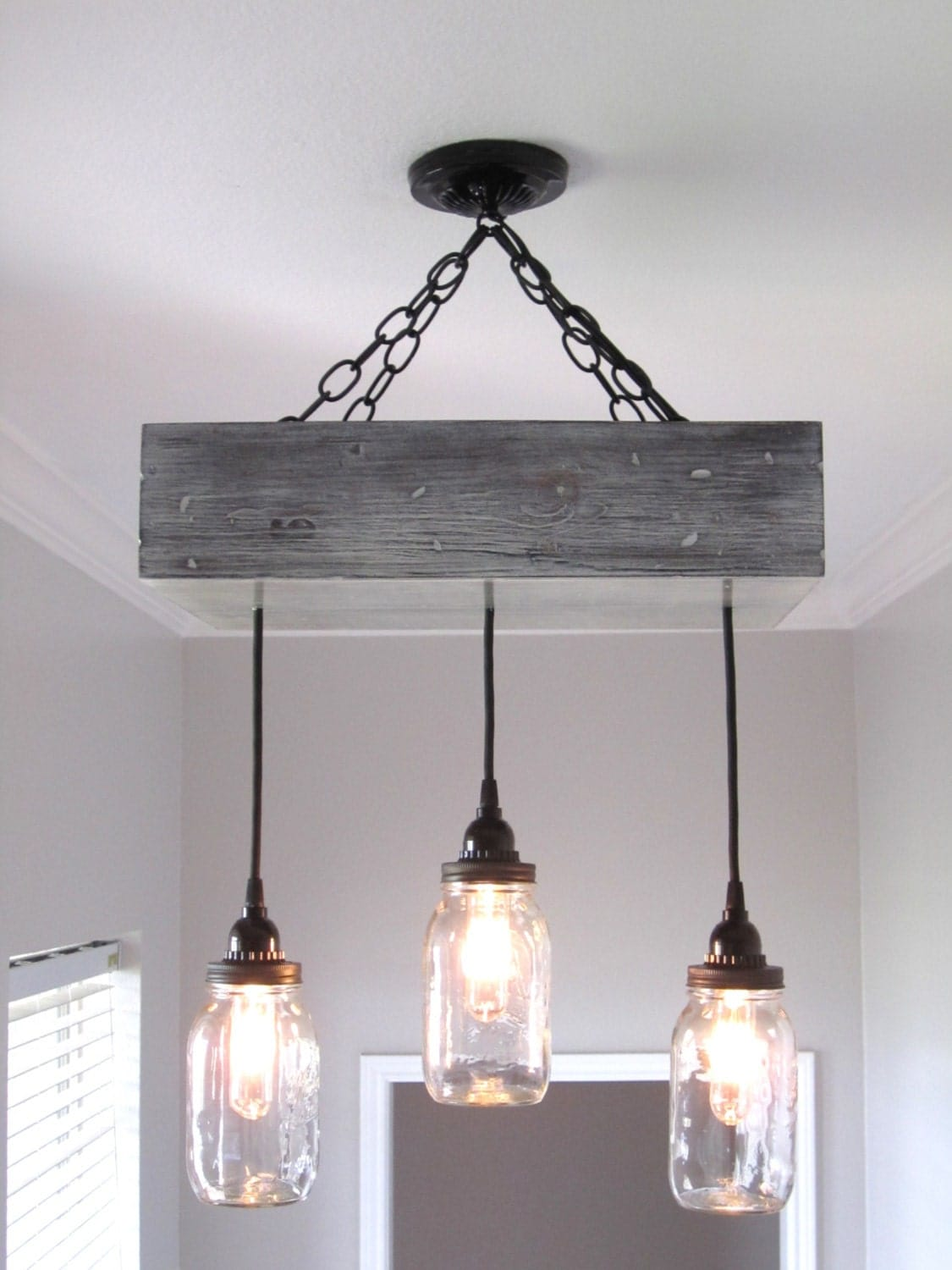 Rustic Mason Jar Chandelier Lighting By OutoftheWdworkDesign